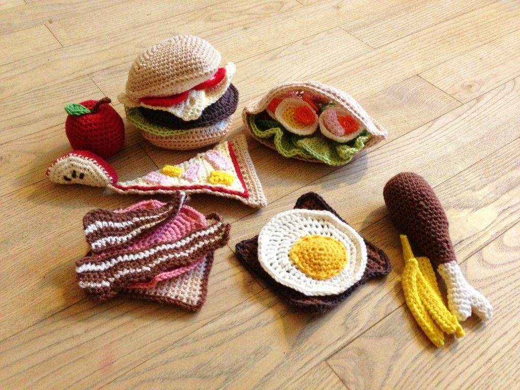 Hæklet mad | Вязание продукты, столовая утварь | Pinterest ...