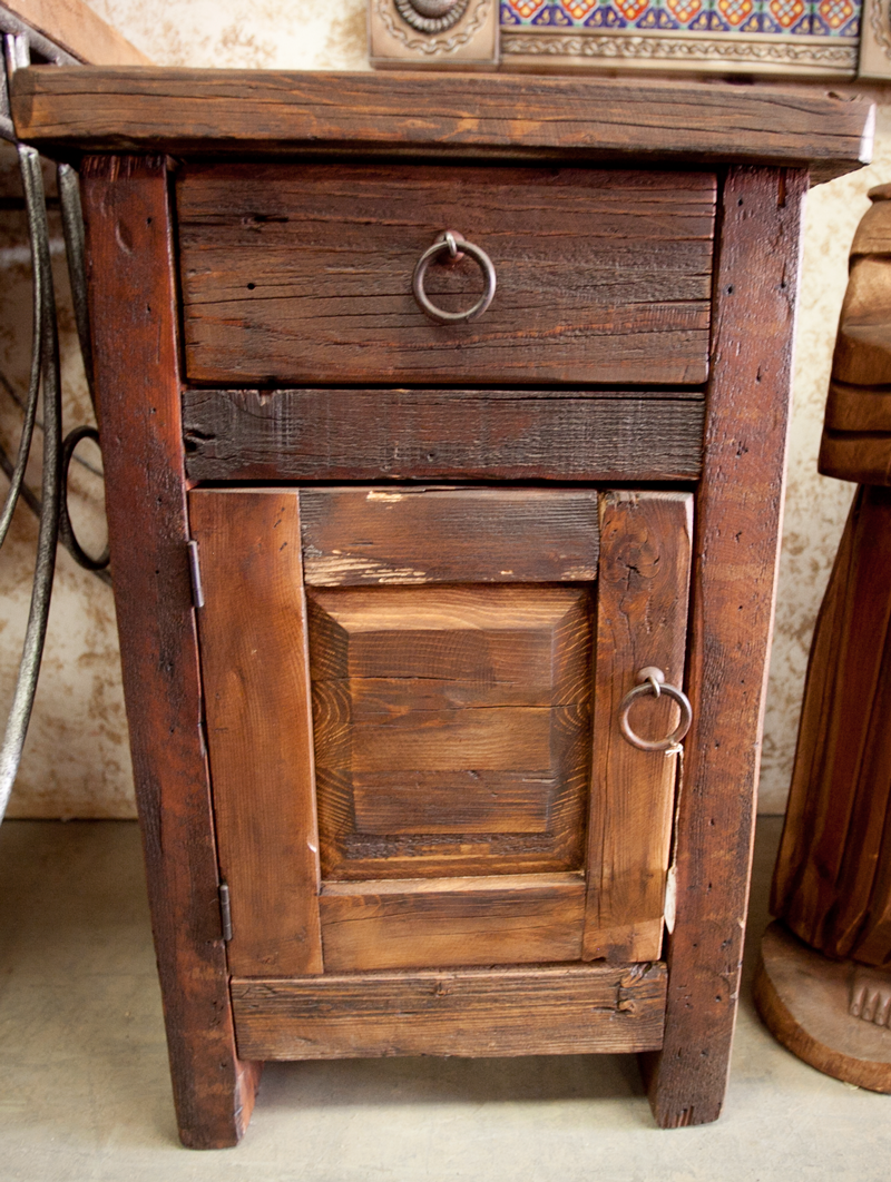 Best Hand Crafted Barn Wood Night Stand Rustic Furniture 400 x 300