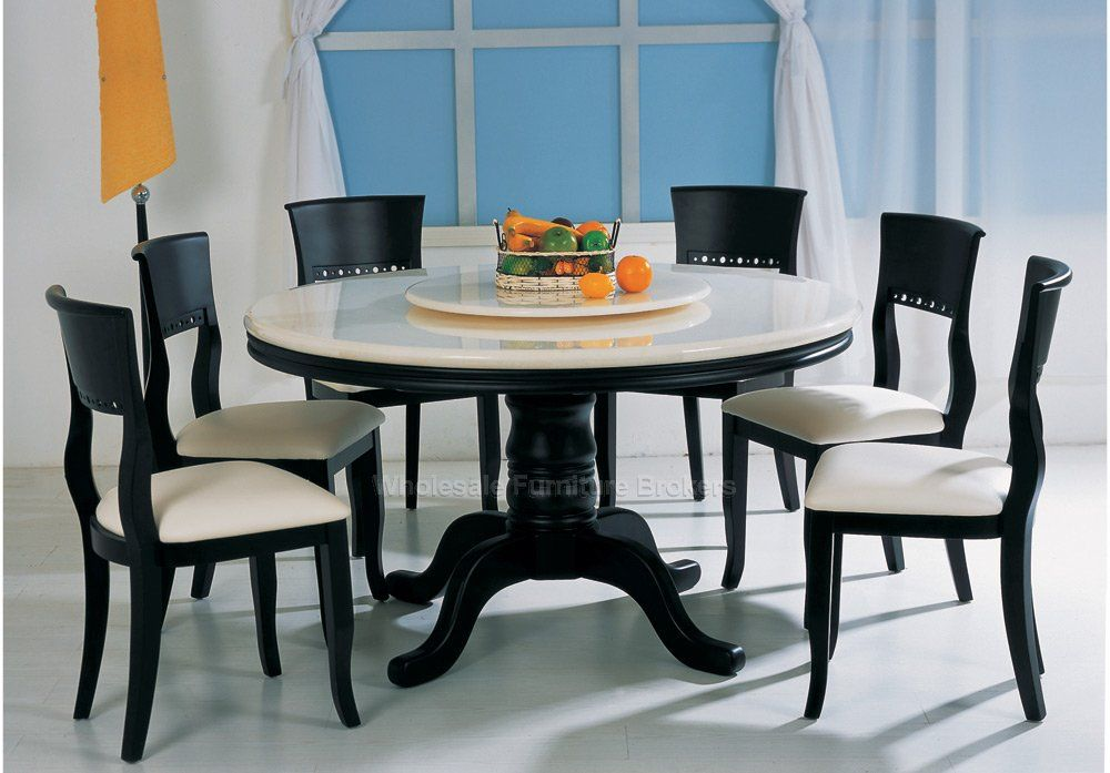 Best Round 6 Seat Dining Table Round Kitchen Table With 6 Chairs