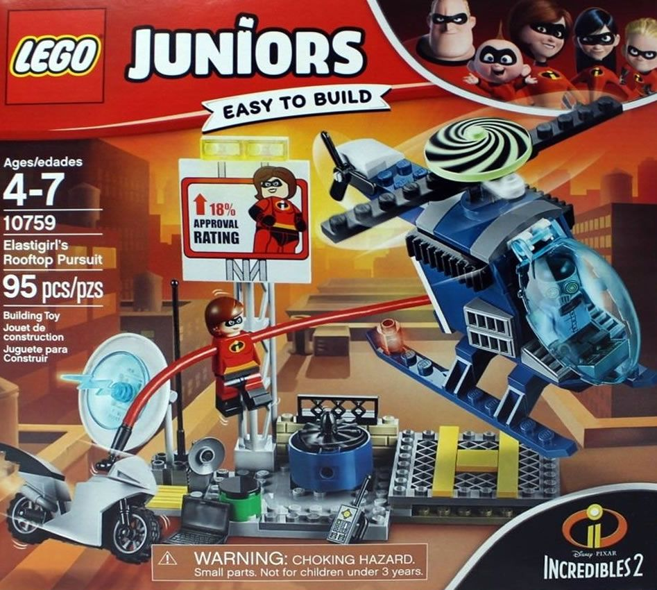 2 Minifigures LEGO Juniors Elastigirl Rooftop Pursuit 10759 Building Kit 95pcs