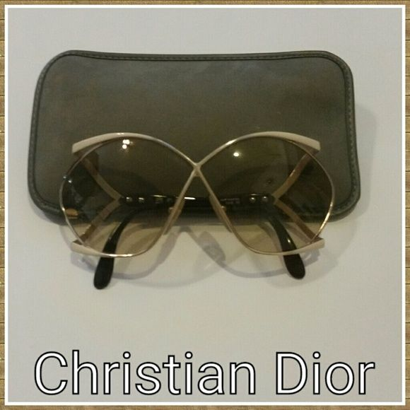 757c7031ea2c HP X 3Vintage  70s Christian Dior Sunglasses!  2056 Butterfly style.  Beautiful Condition! Original case! Made in Australia and was only  available in Europe!
