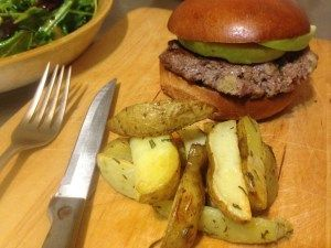 apple pork burger. easy recipe!