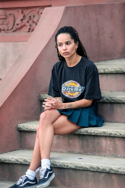 Zoe Kravitz Photos Photos: Zoe Kravitz Seen On The Set Of 'High Fidelity'