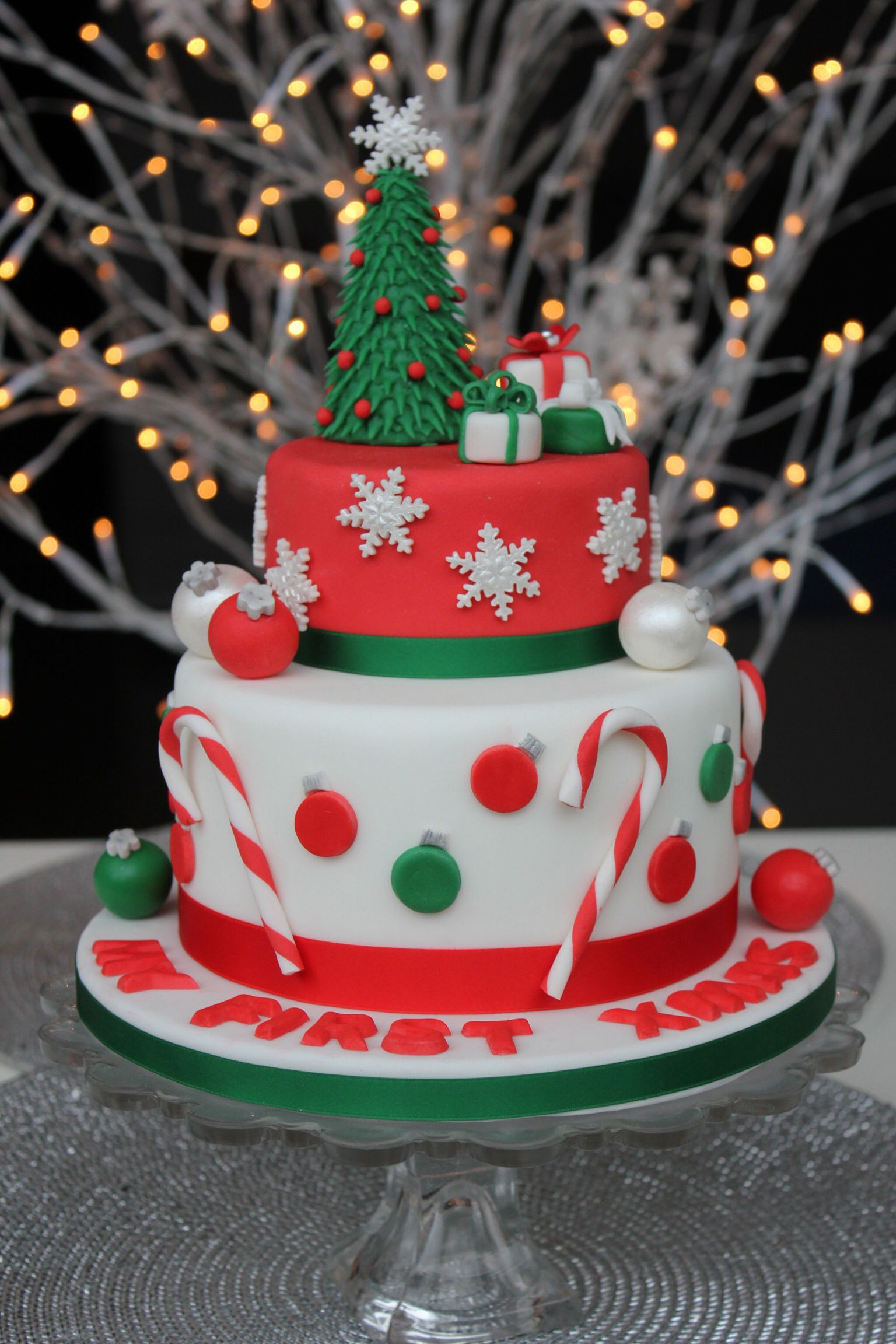 Torte Decorate Di Natale christmas cake - torta di natale (with images) | christmas