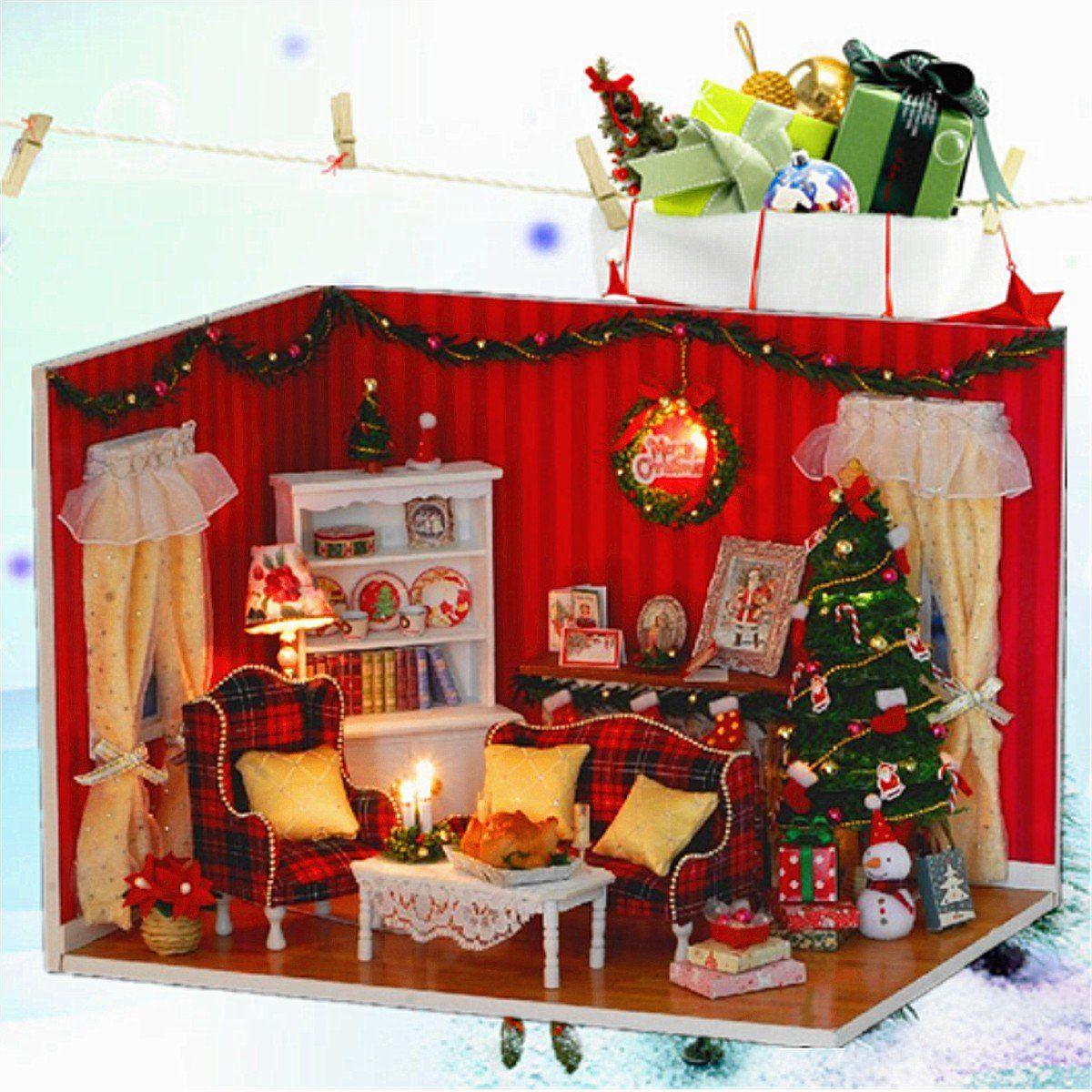 US27.99 Dollhouse Miniature DIY Kit Cover Led music