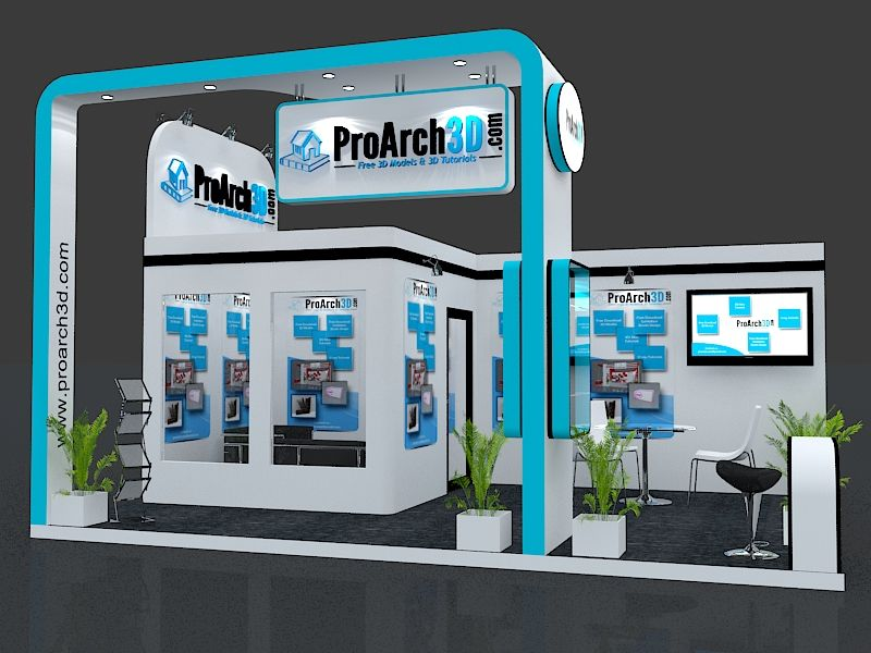 3d Exhibition Stand Design Software Free Download : Exhibition stall d model mtr mtr side open