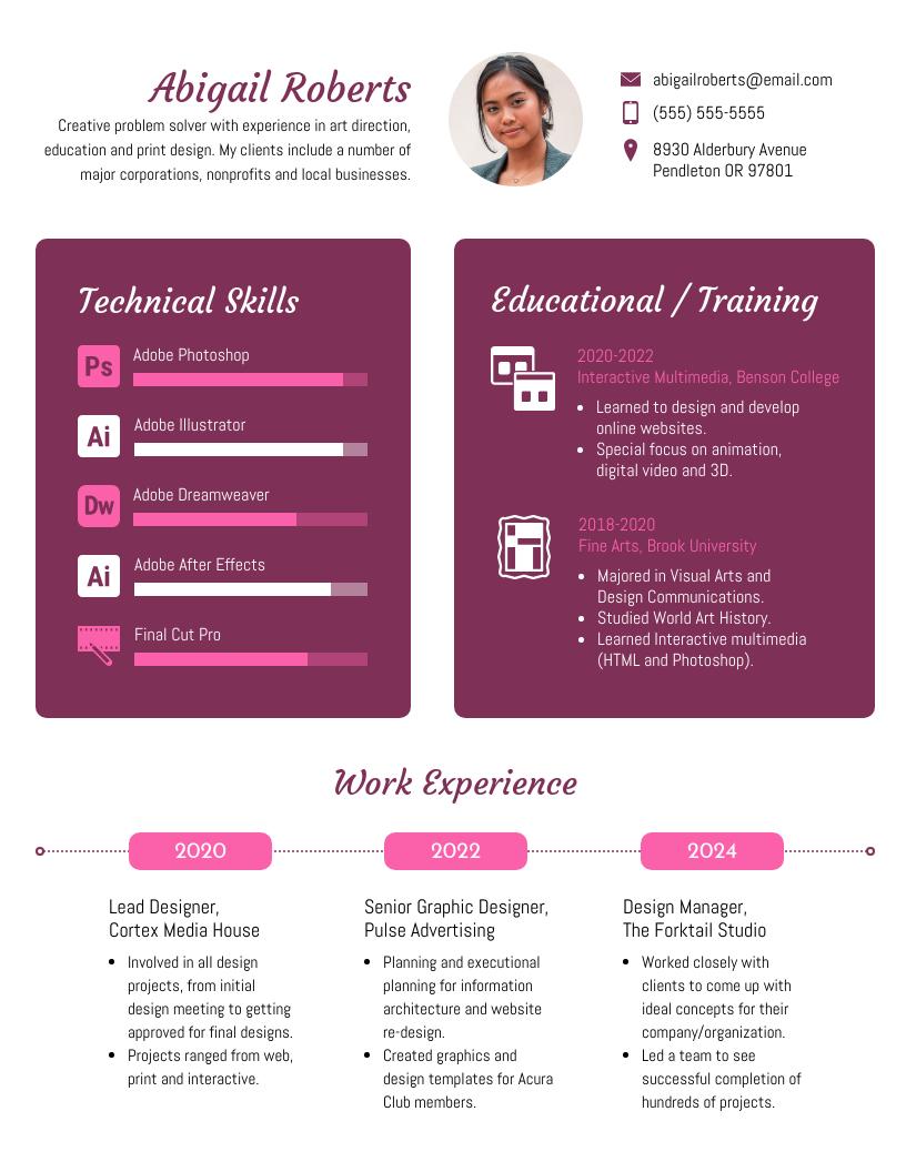 Free Resume & CV Maker Get started in minutes