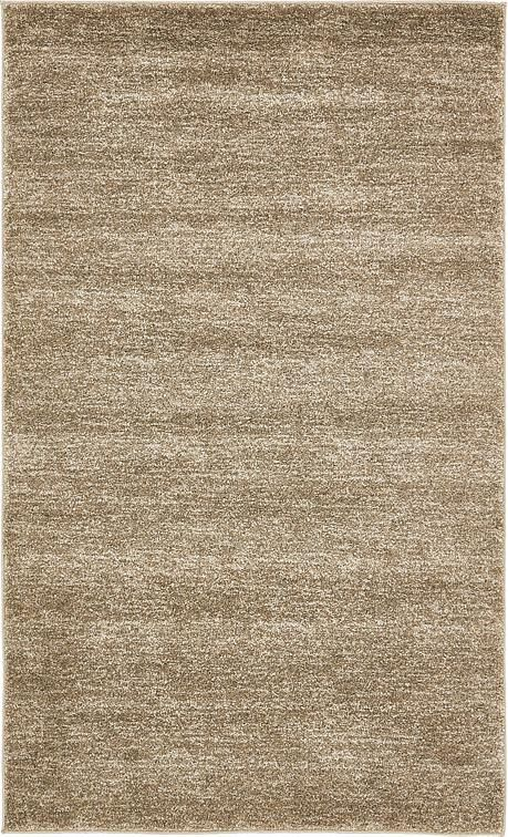 Light Brown Solitaire Frieze Area Rug