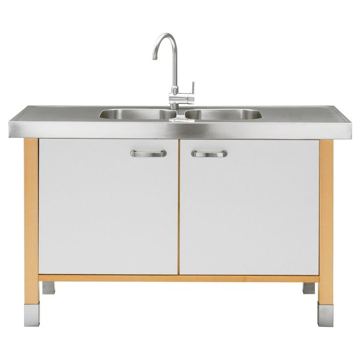 Ikea Art Studio Sink Into My VÄrde Cabinet W Double Bowl