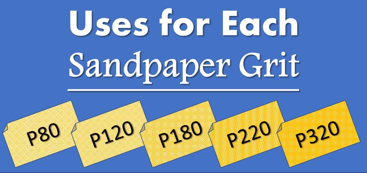 Uses for Each Sandpaper Grit Chart Sandpaper Grades for