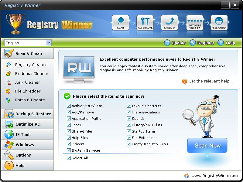 Registry Winner Is A Top Ranking Error Resolution Registry Cleaner Which Will Fix The Computer Errors And Optimi Cleaning Kit Registry Jewelry Making Business