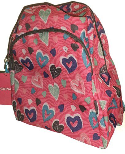 Colorful Hearts School Backpack Back Pack Book Bag EastWest http ...