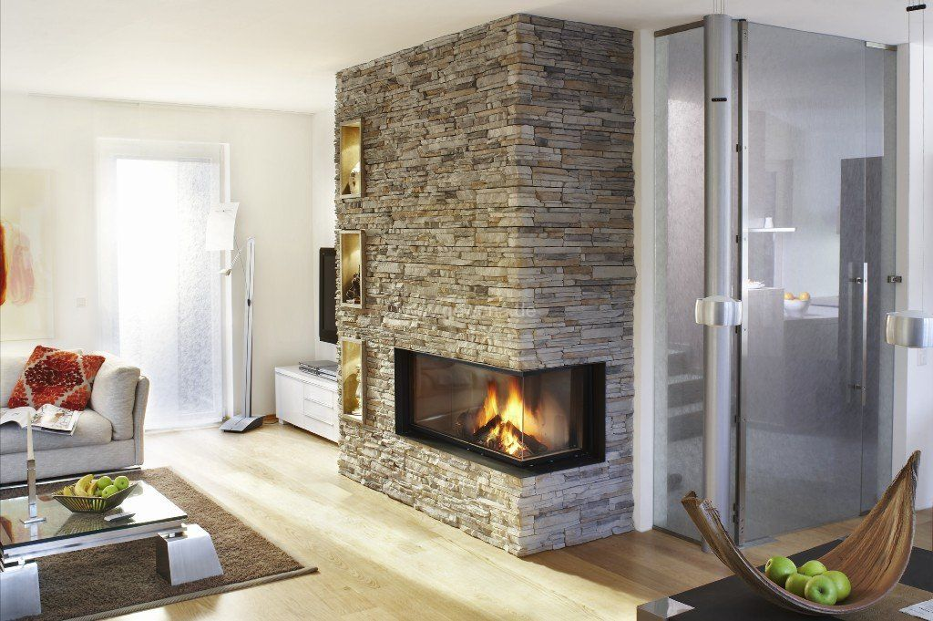Fake Kamin Modern Brickwall And Fireplace...would Look Perfect In My New