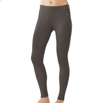 SmartWool Midweight Long Underwear Bottoms - Wool - Womens Medium - Black or Deep Sea Heather