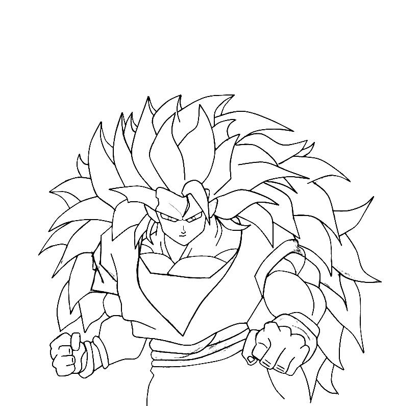 Dibujo De Goku En El Paint.net