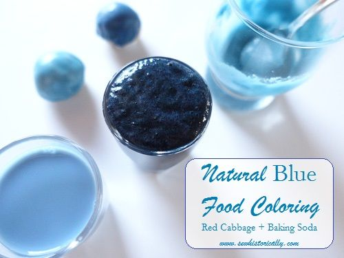 diy natural blue food coloring tutorial red cabbage baking soda blue ...