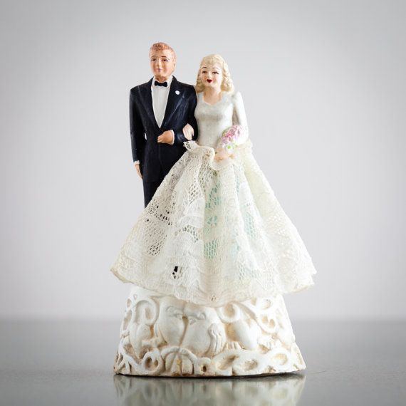 Vintage Wedding Cake Topper 1940s Blonde Bride Etsy Vintage Wedding Cake Topper Wedding Cake Toppers Blonde Bride