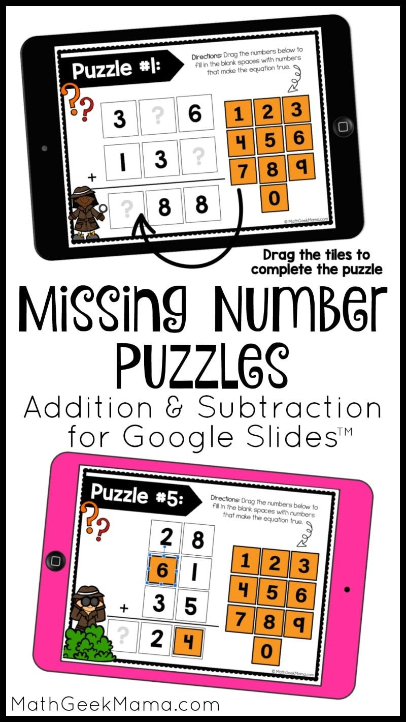 These Addition And Subtraction Free Google Slide Puzzles Will Be Plenty Of Practice Once Your Child Has L Google Slides Math Addition And Subtraction Math Geek [ 1420 x 800 Pixel ]