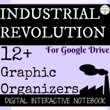 Teachers Pay Teachers Industrial Revolution Digital Interactive Notebook for Google Drive