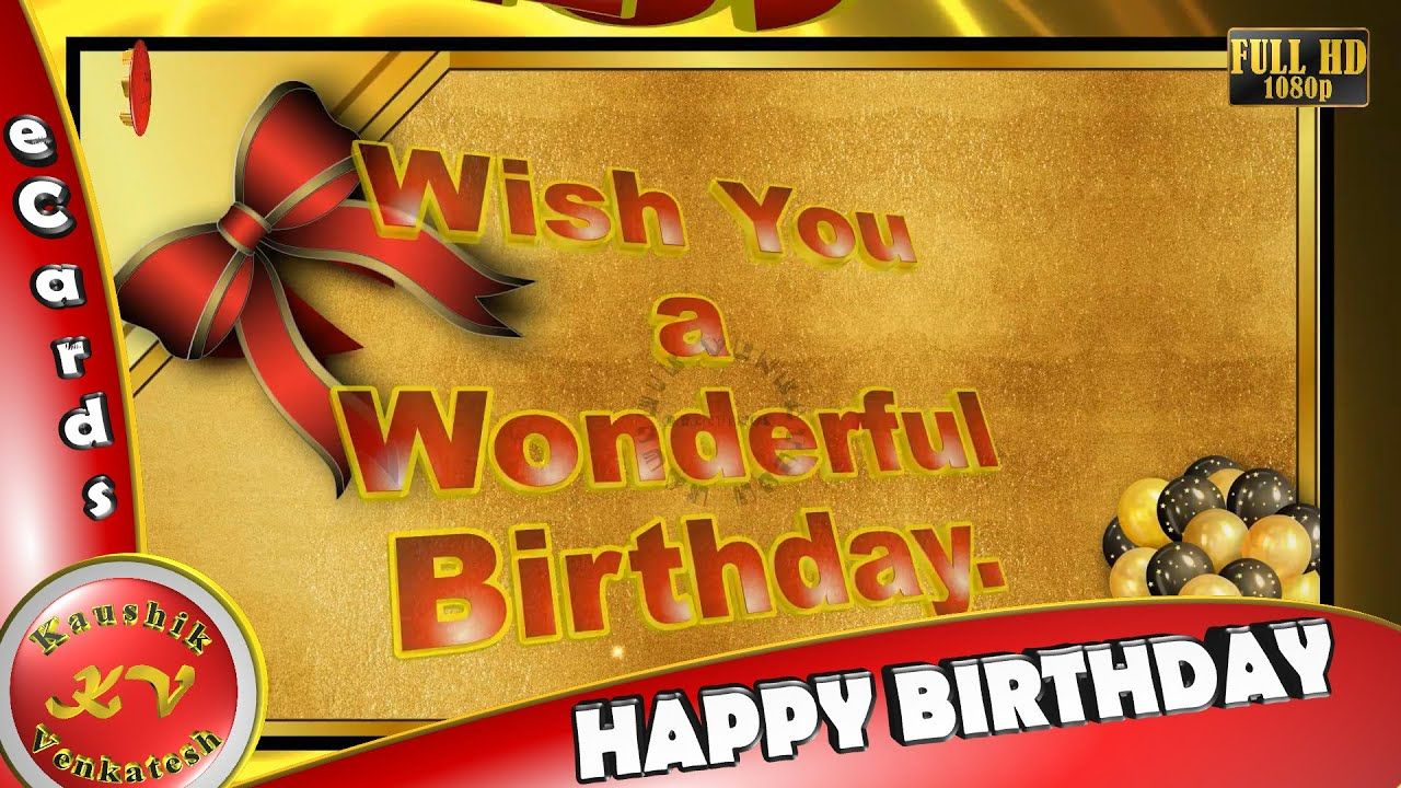 Happy Birthday 3D Animation,Wishes,WhatsApp Status Video