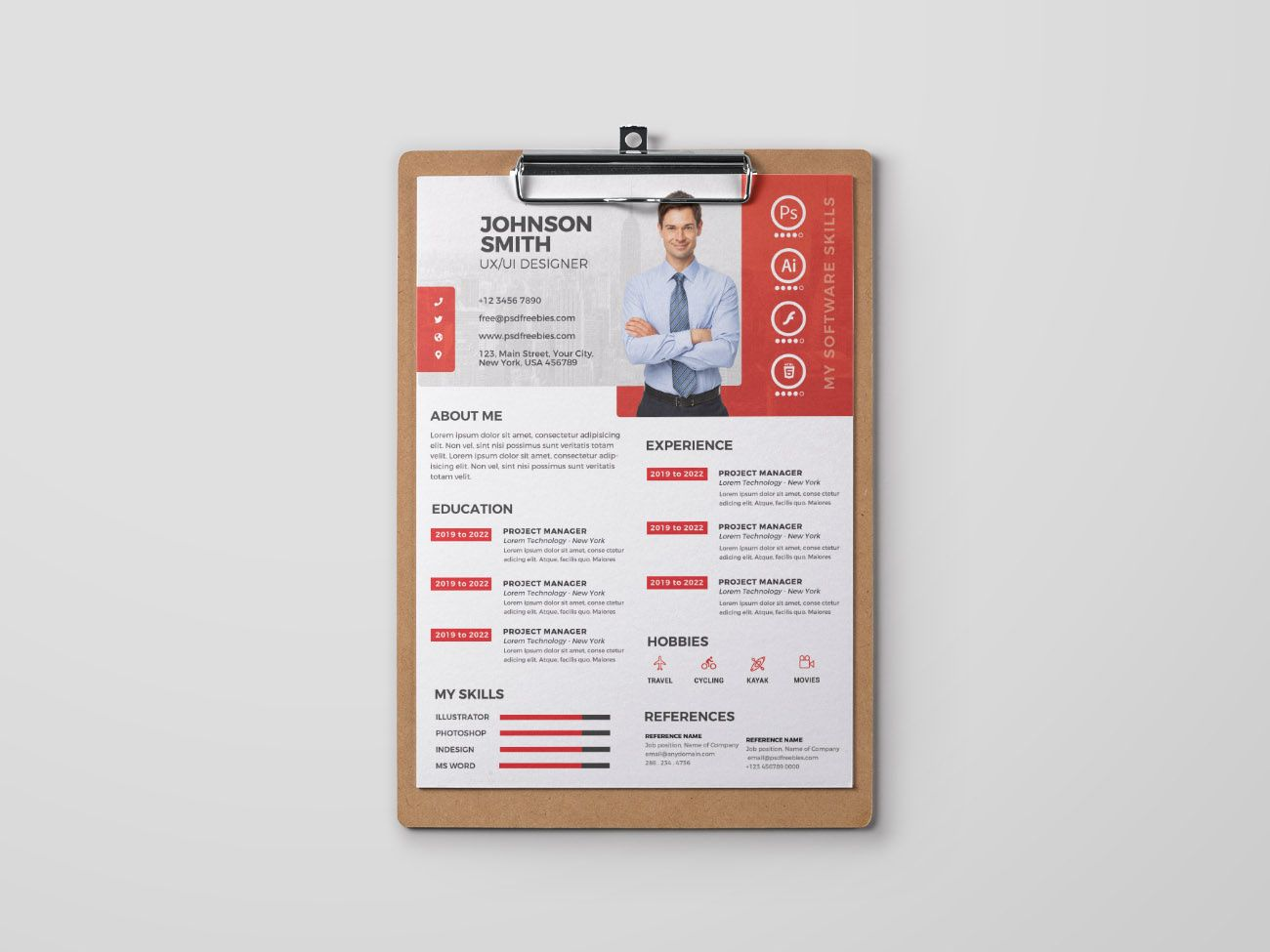 Free formal psd resume template resume template one