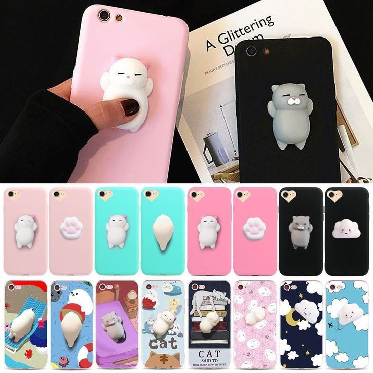 2017 Squishy 3D Soft Silicone Cat Bear Tpu Phone Case Cover For Iphone/Samsung -