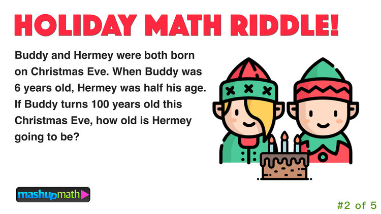 5 Fun Christmas Math Riddles and Brain Teasers for Grades 18