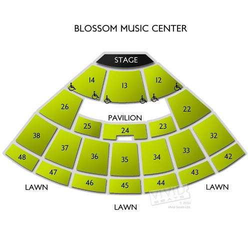 Blossom Music Center Seating Chart For The Perfect Music