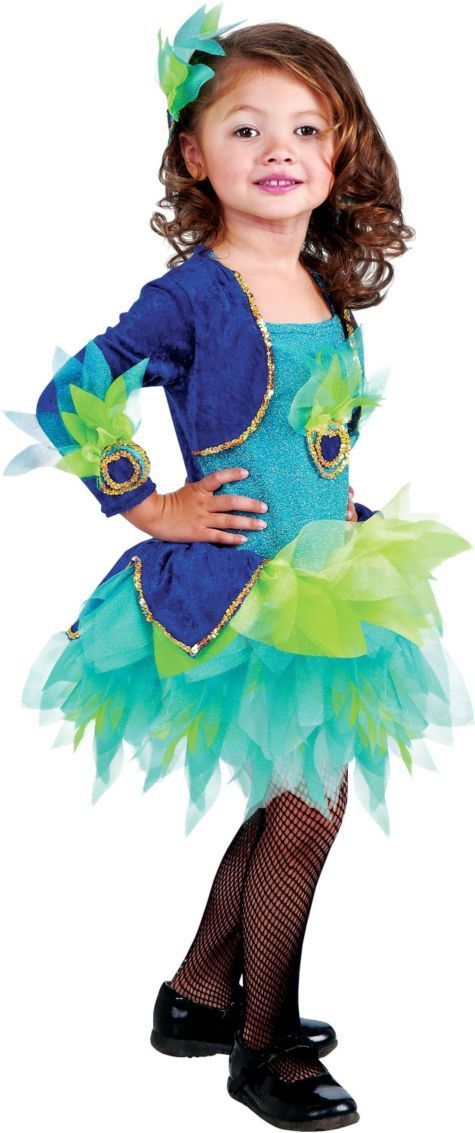 Pretty Peacock Costume for Toddler Girls - Halloween City Girls - toddler girl halloween costume ideas