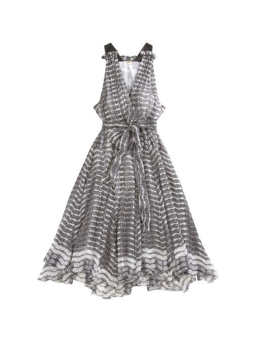 L'Agence Draped V-Neck Dress