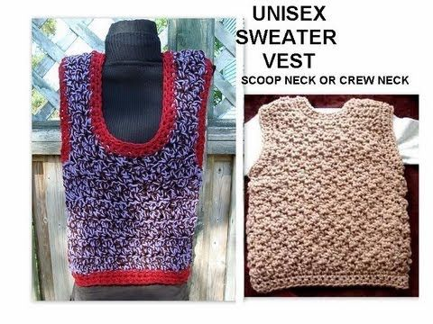 Crochet A Vest Unisex Any Size Toddler Adult Children Crew
