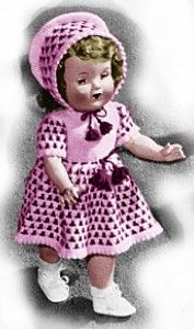18 Inch Doll Dress and Bonnet Knitting Patterns