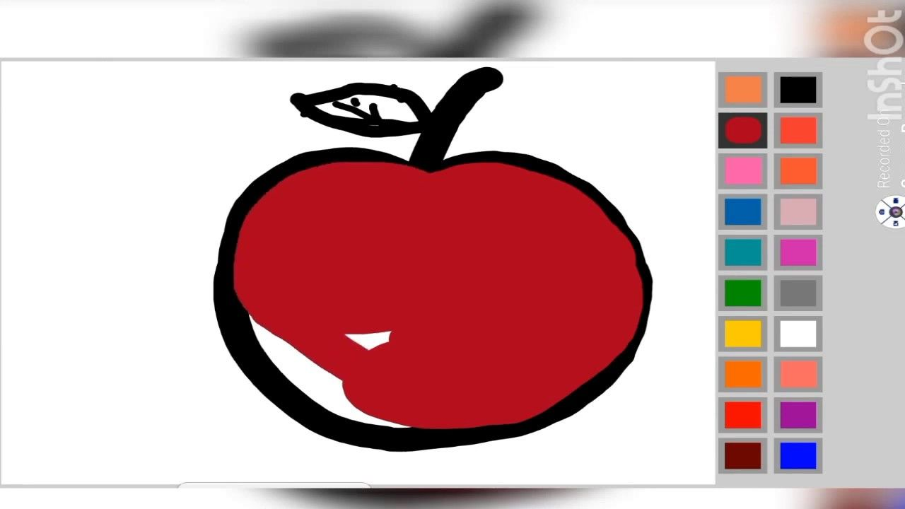 How To Draw An Apple Easy Drawing Apple For Kids Toddlers Draw So Cu Drawing Apple Toddler Drawing Easy Drawings