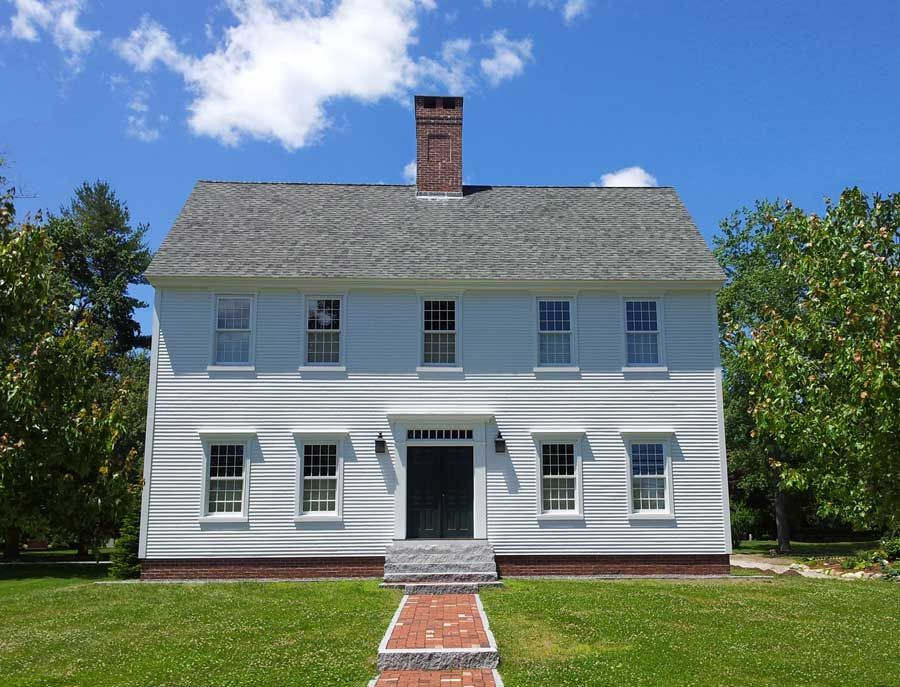 White center chimney exteriors pinterest colonial for Colonial reproduction house plans