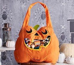 halloween treat bags trick or treat bags pottery barn kids - Kids Halloween Treat Bags