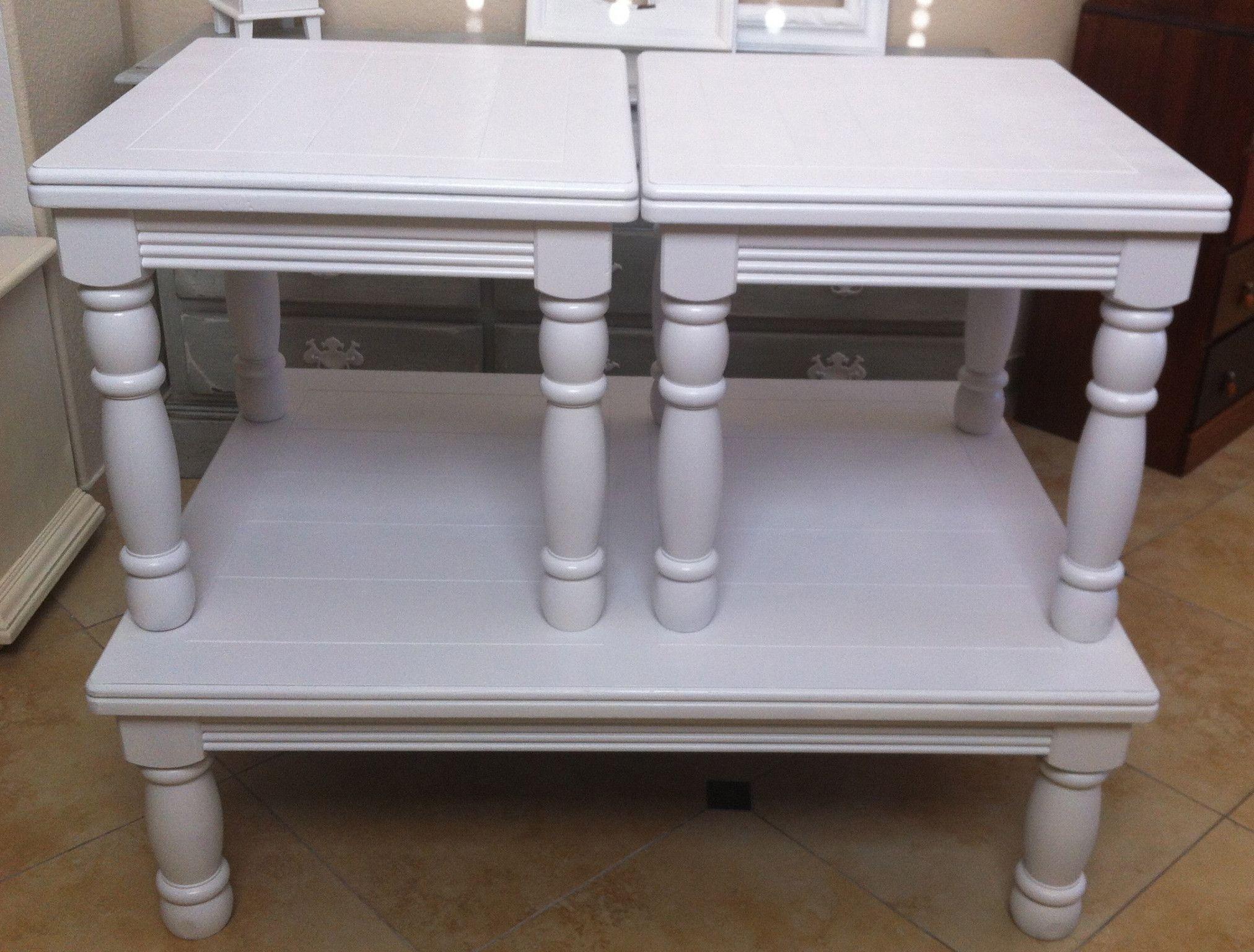 white coffee table set
