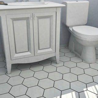 Shop For SomerTile Hextile Matte White Porcelain Floor And Wall Tile (Set  Of 14)