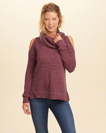 Cowl Neck Cold Shoulder Sweater Medium | christmas list 2016 ...