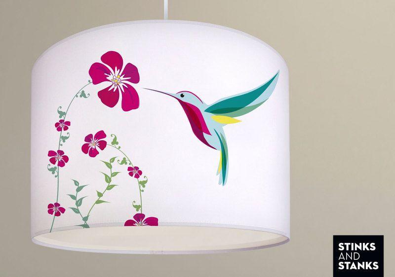 Deckenlampe Kolibri Vogel Ø 40cm LS029 von STINKSANDSTANKS auf DaWanda.com