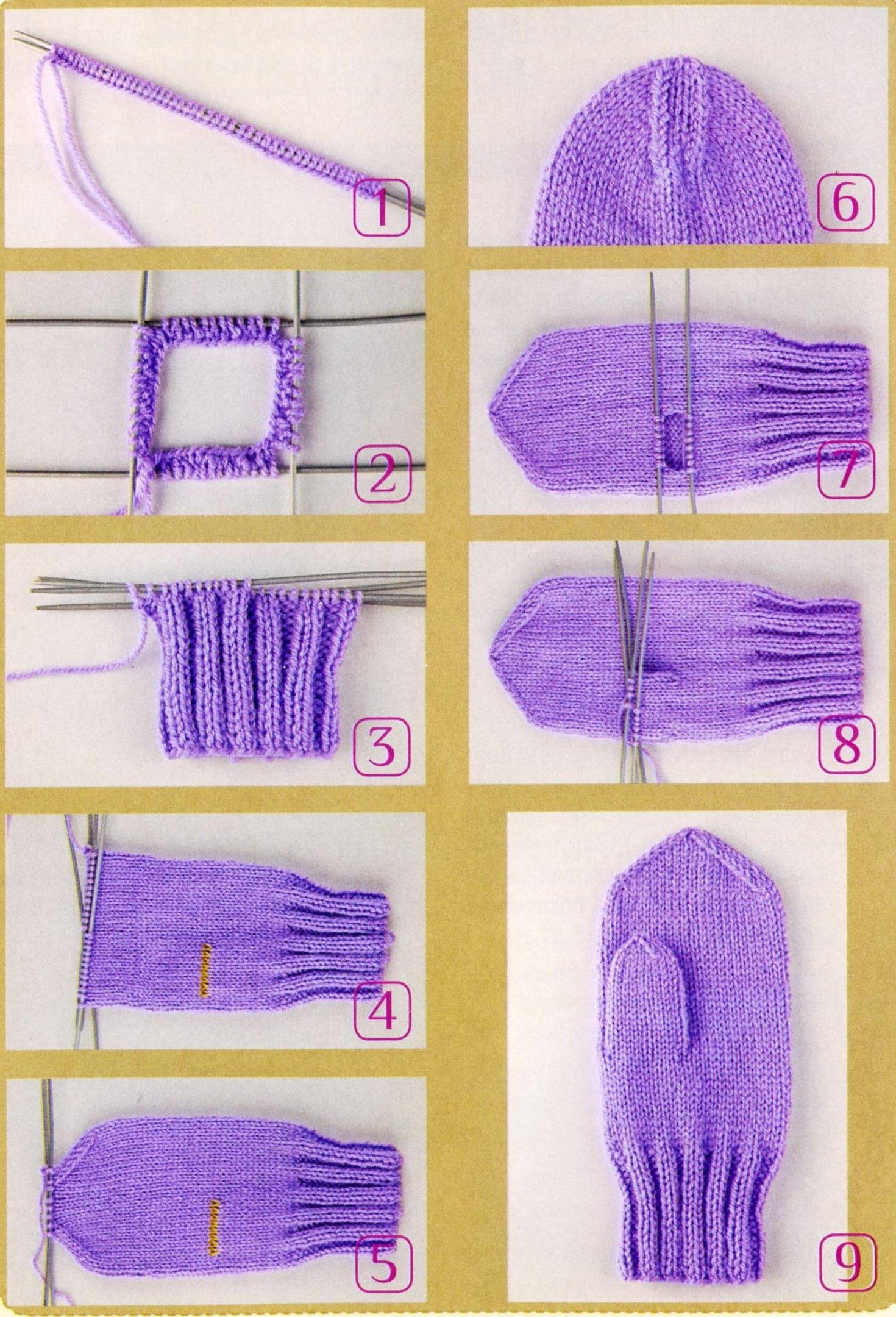 Схема вязания варежек видео фото 844