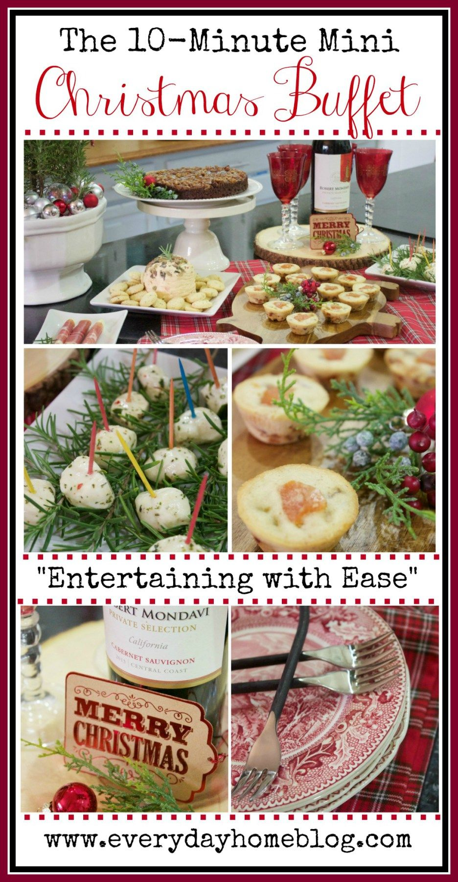 Easy 10-Minute Christmas Buffet | The Everyday Home | www.everydayhomeblog.com