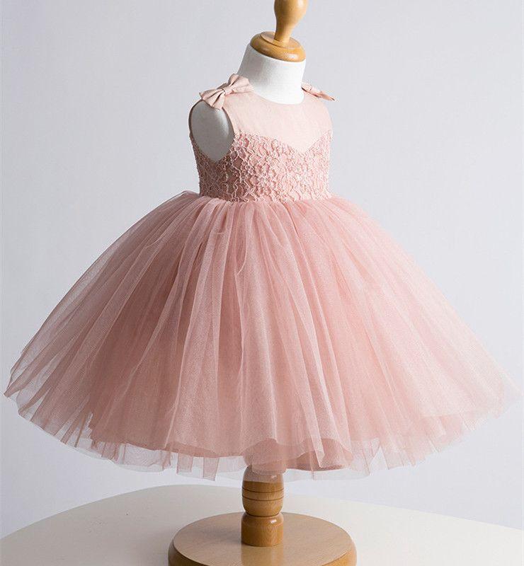 Ls-1-bebé-de-encaje-traje-de-bautizo-bautismo-para-bebés-rosa-blanco ...