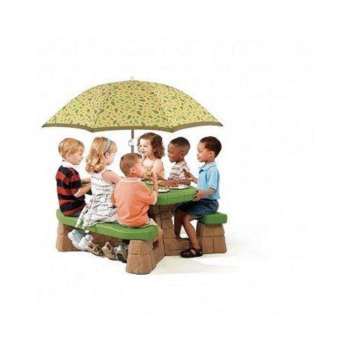 Junior Picnic Table Umbrella Set This Step 2 Naturally Playful