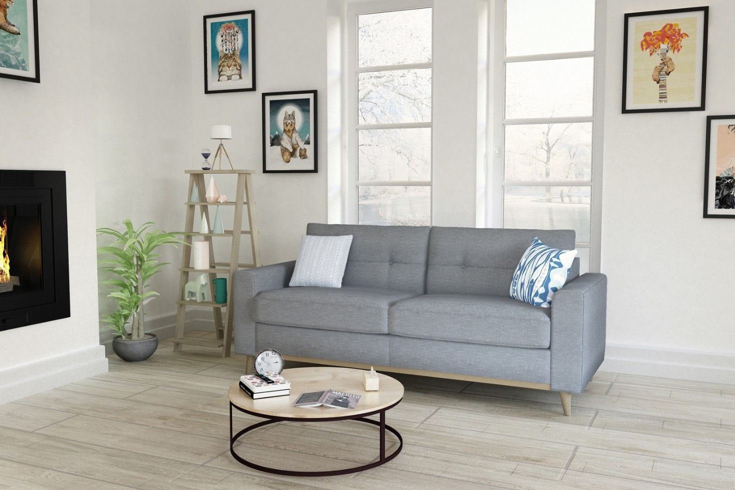Canape 3 Places Convertible Shield Pas Cher Canape But Iziva Com Tissu Gris Mobilier De Salon Canape