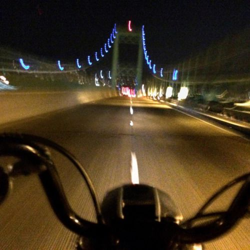 """Totally perfect night ride home tonight.  Damn the 96""""..."""