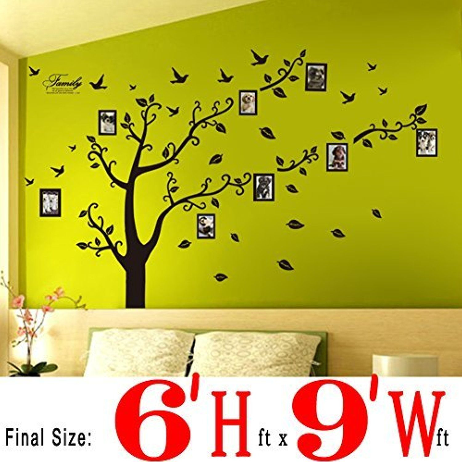 Dearm-home® 6\'(h) X 9\'(w) Huge Size Family Photo Frame Tree Quote ...