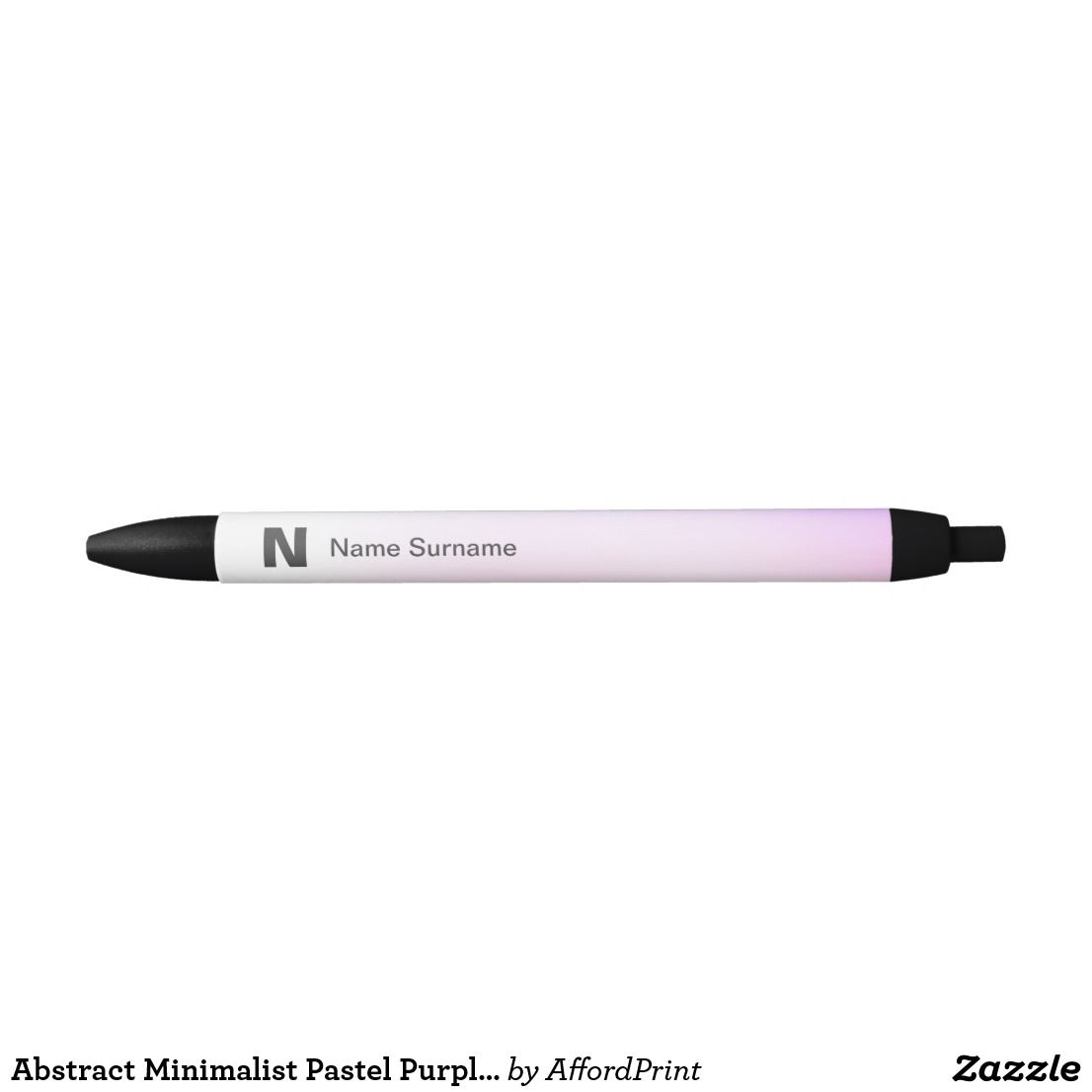 Abstract Minimalist Pastel Purple Pink Gra Nt Black Ink