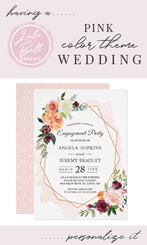 Modern Diamond Frame Blush Floral Engagement Party Invitation | Zazzle.com #dressesforengagementparty