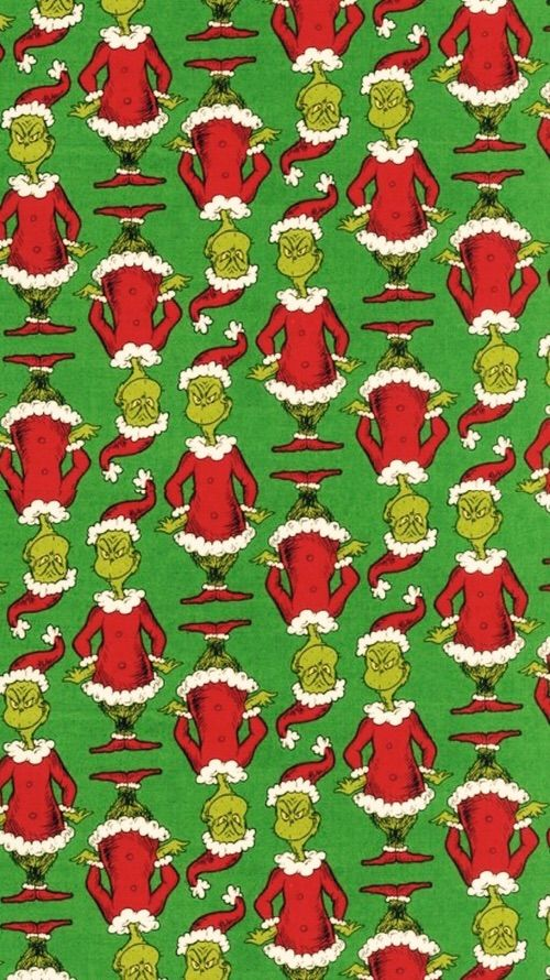 Image Via We Heart It Background Christmas Green Grinch Red Wallpaper White Christmas Phone Wallpaper Cute Christmas Wallpaper Xmas Wallpaper