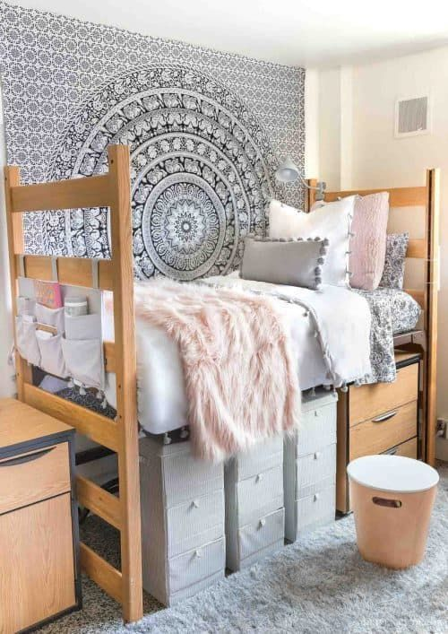 Inspiring College Dorm Decor Ideas including storage, organization, decorations, and hacks. Dorm room organization essentials, where to buy dorm room decor and cheap and affordable college living spaces you will want to copy. #FrugalCouponLiving #college #collegedorm #dorm #dormdecor #dormroomideas #dormroomdecor #dormroom #dormroomstorage #dormroomorganization #dormroomhacks #organization #storageideas #smallspaces